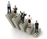 Executivos bem sucedidos novos em três Fotos de Stock Royalty Free