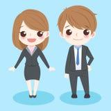 Executivos bonitos dos desenhos animados Fotos de Stock Royalty Free
