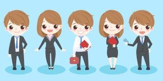 Executivos bonitos dos desenhos animados Fotos de Stock