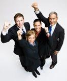 Executivos cheering Fotografia de Stock