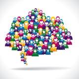 Executivos coloridos do conceito de uma comunicação Imagem de Stock