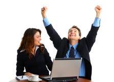 Executivos com portátil fotografia de stock royalty free