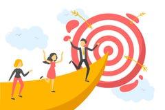 Executivos corridos ao centro do alvo ilustração royalty free