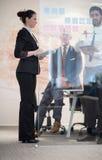 Executivos criativos novos com CEO superior Foto de Stock