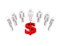 Executivos da equipe com símbolo do dólar ilustração stock