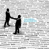 Executivos da página econômica global do texto das edições Imagens de Stock Royalty Free
