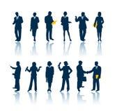 Executivos das silhuetas Imagem de Stock