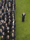 Executivos de By Group Of da mulher de negócios na fileira imagem de stock royalty free