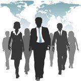 Executivos de recursos humanos de força de trabalho do mundo Fotografia de Stock