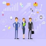 Executivos de recursos humanos do gestor de equipa lisos ilustração royalty free