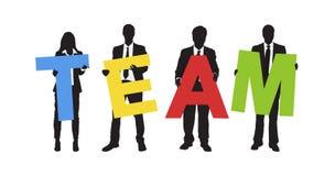Executivos de Team Colourful Text Concept ilustração royalty free