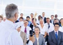 Executivos de Team Seminar Concept incorporado da diversidade Imagens de Stock