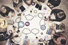 Executivos de Team Teamwork Working Meeting Concept imagem de stock
