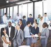 Executivos de uma comunicação da conversação que fala Team Concept fotografia de stock