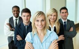 Executivos dirigidos por uma mulher Fotografia de Stock Royalty Free