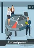 Executivos do conceito de Team Office Desk Clock Time ilustração royalty free