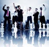 Executivos do conceito de vencimento do jogo de xadrez da celebração Imagem de Stock Royalty Free
