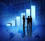 Executivos do conceito econômico do mundo do grupo fotos de stock