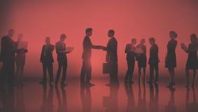 Executivos do conceito exterior da reunião de New York Imagem de Stock Royalty Free