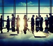 Executivos do conceito exterior da reunião de New York Imagens de Stock