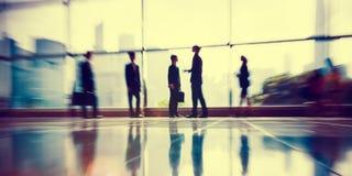 Executivos do conceito incorporado do trabalho do escritório de uma comunicação Imagens de Stock