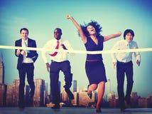 Executivos do conceito running da cidade da raça da competição Fotos de Stock Royalty Free