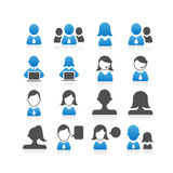 Executivos do ícone Fotografia de Stock