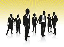 Executivos do fundo Imagem de Stock