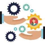 Executivos do gráfico do trabalho Imagens de Stock