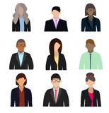 Executivos dos avatars lisos no fundo branco Ilustração do vetor ilustração do vetor