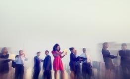 Executivos dos conceitos exteriores da reunião de New York Fotografia de Stock Royalty Free