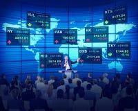 Executivos dos conceitos incorporados da bolsa de valores imagem de stock royalty free