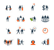 Executivos dos ícones Gestão, recursos humanos Foto de Stock