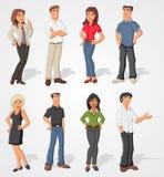 Executivos dos desenhos animados Fotos de Stock