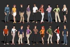Executivos dos desenhos animados Fotografia de Stock