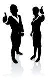 Executivos dos polegares acima Imagem de Stock