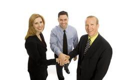 Executivos dos trabalhos de equipa Fotografia de Stock