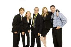 Executivos dos trabalhos de equipa Imagem de Stock