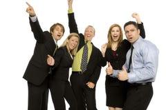 Executivos dos trabalhos de equipa Imagens de Stock Royalty Free