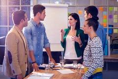 Executivos durante uma reunião Foto de Stock Royalty Free