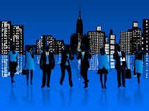 Executivos e cidade Foto de Stock