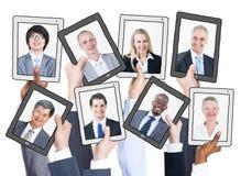 Executivos e conceitos sociais dos trabalhos em rede imagens de stock royalty free