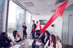 Executivos e crescimento da renda Imagem de Stock