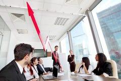 Executivos e crescimento da renda Fotografia de Stock