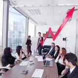 Executivos e crescimento da renda Imagem de Stock Royalty Free