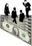 Executivos e dinheiro ilustração royalty free