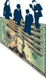 Executivos e dinheiro ilustração stock