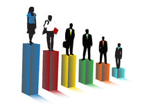 Executivos e gráfico Fotografia de Stock Royalty Free