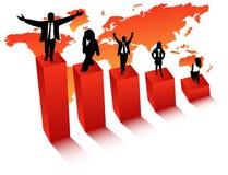 Executivos e gráfico Fotografia de Stock