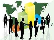 Executivos e gráfico Fotos de Stock